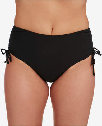 Swim Solutions Adjustable Ruched Brief Bottoms, Created for Macy's Women's Swimsuit