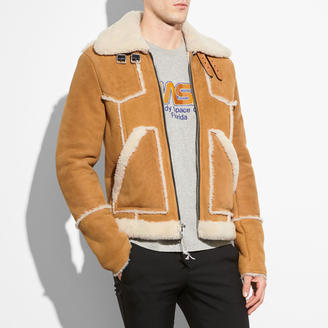 COACH Coach Shearling Lumber Jacket $2,200 thestylecure.com