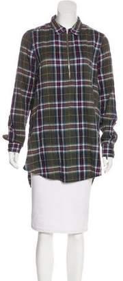 Raquel Allegra Plaid Cotton Long Sleeve Top
