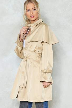 Nasty Gal Cape With the Program Trench Coat