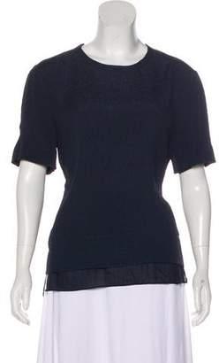 Helmut Lang Short Sleeve Silk Top