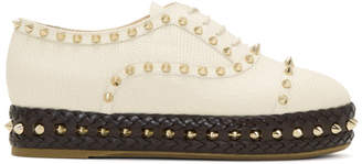 Charlotte Olympia Ivory Studded Hoxton Oxfords