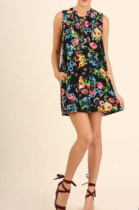 Umgee USA Floral Print Dress