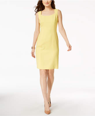 Kasper Textured-Knit Sheath Dress, Regular & Petite