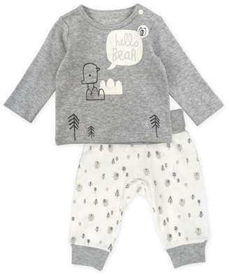 M·A·C Mac & Moon Long Sleeve Top & Harem Pants, 2pc Outfit Set (Baby Boys or Baby Girls Unisex)