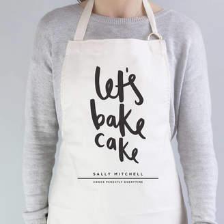 Old English Company Let's Bake Cake Personalised Apron