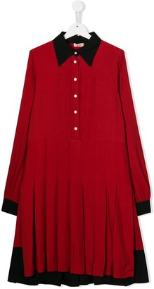 No.21 Kids pleated dress