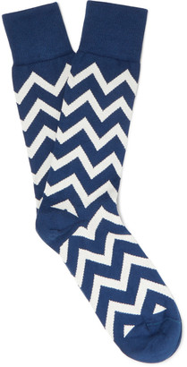 Paul Smith Chevron-Patterned Cotton-Blend Socks $30 thestylecure.com