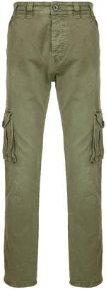 Diesel Black Gold regular cargo pants in dyed canvas