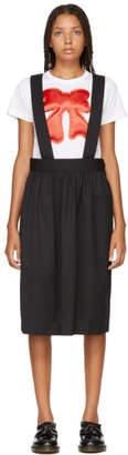 Comme des Garcons Black Wool Gabardine Suspender Skirt