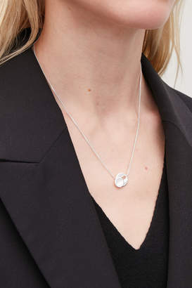 Cos STERLING-SILVER TOGGLE NECKLACE