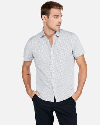 Express Classic Geometric Dot Short Sleeve Shirt