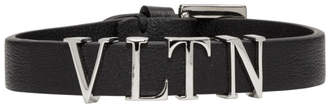 Valentino Black and Silver Garavani VLTN Bracelet