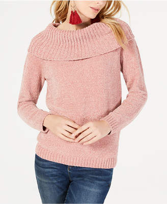 INC International Concepts I.n.c. Chenille Cowl-Neck Sweater