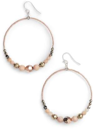 Chan Luu Semiprecious Stone Frontal Hoop Earrings