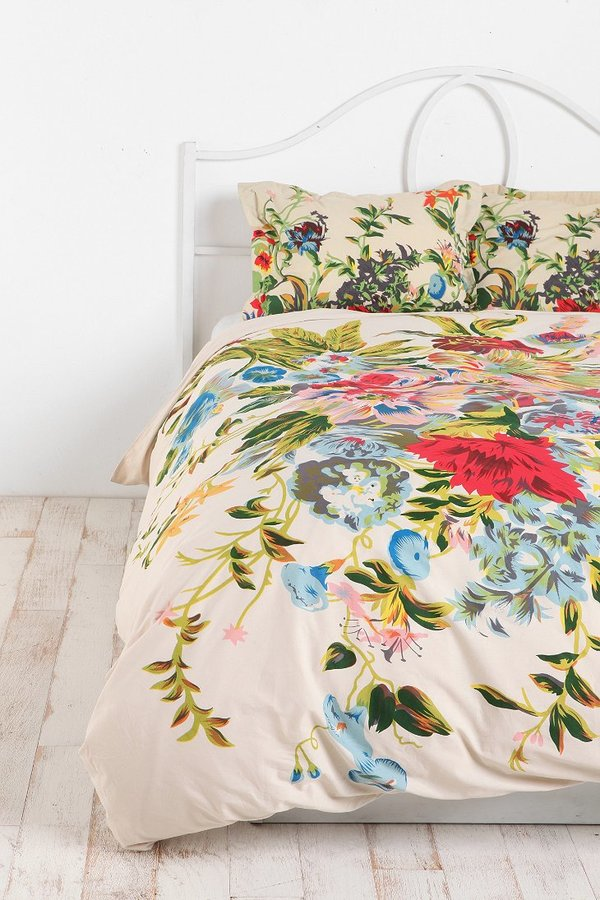 Urban Outfitters Romantic Floral Scarf Sham - Set Of 2