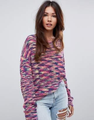 Missguided twist back oversized jumper