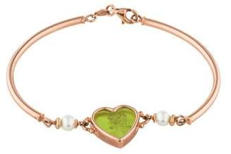 Tagliamonte 14K Mother of Pearl & Pearl Classic Heart Bracelet
