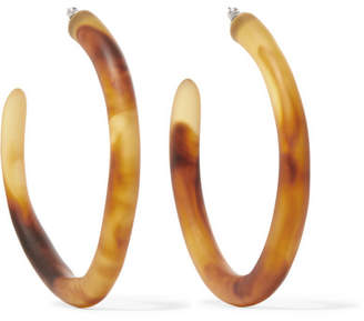 Dinosaur Designs Resin Hoop Earrings - Tortoiseshell