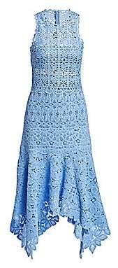Jonathan Simkhai Women's Floral Crochet Cotton Midi Dress - Size 0