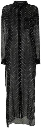 Alexandre Vauthier polka-dot sheer shirt dress