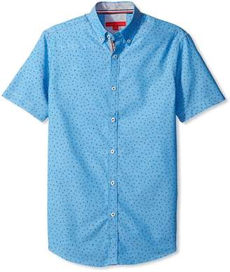 Report Collection Men's Short Sleeve Printed Woven