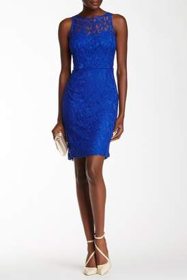 Marina Sleeveless Lace Sheath Dress