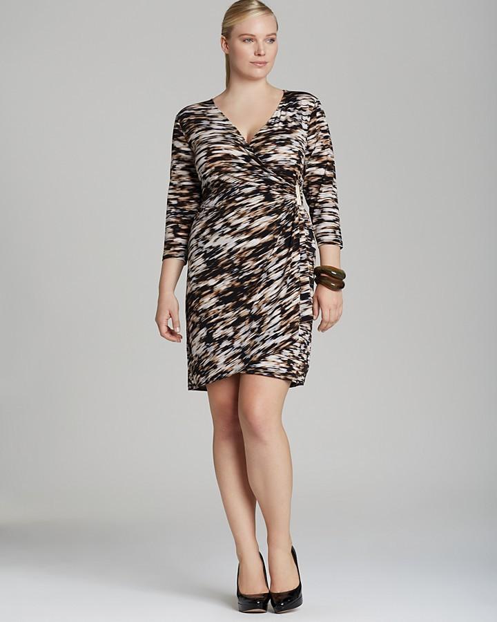 Calvin Klein Plus Printed Drape Dress