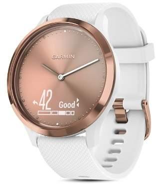 Garmin vívomove® HR Sport Hybrid White Smartwatch, 43mm