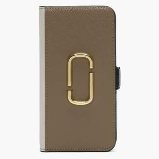 Marc Jacobs Snapshot French Grey Multi Cross Grain Leather iPhone XR Case