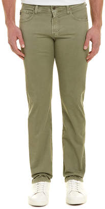 AG Jeans The Matchbox Sulfur Olive Slim Straight Leg