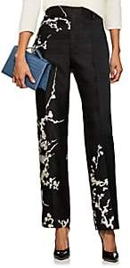 Haider Ackermann Women's Floral Jacquard Flat-Front Trousers - Black