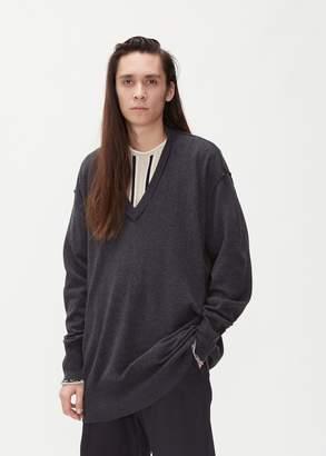 Maison Margiela Reversed V-Neck Sweater