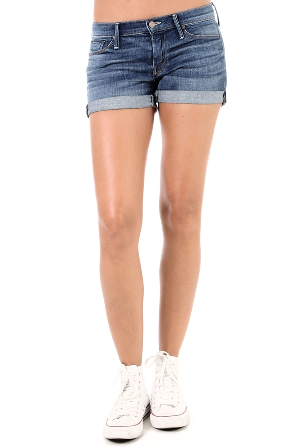 MOTHER DENIM Cuffed Short Shorts