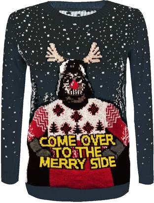 at amazon canada a star wars rewatronics women s christmas come over to the merry side knitted jumper