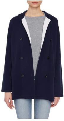 Allude Navy Cashmere Double Breasted Cardigan