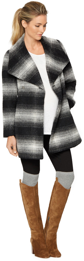 A Pea In The PodWrap Wool Maternity Coat