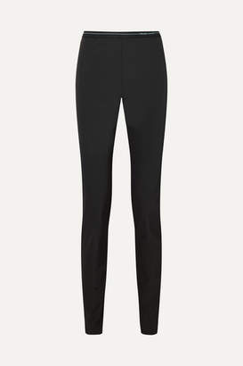 Prada Stretch-twill Leggings - Black