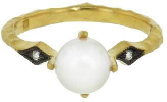 Cathy Waterman Pearl and Diamond Ring - Yellow Gold