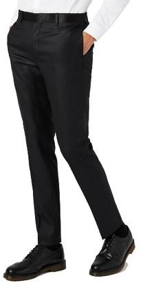 Men's Topman Skinny Fit Liquid Tuxedo Trousers $90 thestylecure.com
