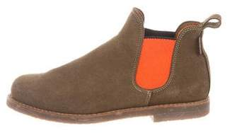 Penelope Chilvers Suede Round-Toe Ankle Boots
