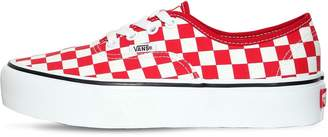Vans Authentic Platform Checkered Sneakers