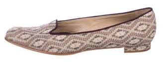 Manolo Blahnik Patterned Pointed-Toe Loafers