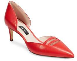 Nine West Suitup Red D'Orsay Pumps