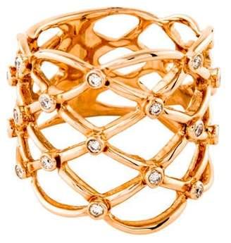 Ring 14K Diamond Lattice