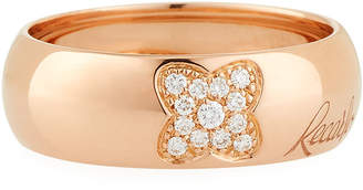 Recarlo 18k Rose Gold Diamond Clover Ring, Size 7.25