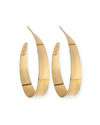 Lana Small Flat Gloss Hoop Earrings