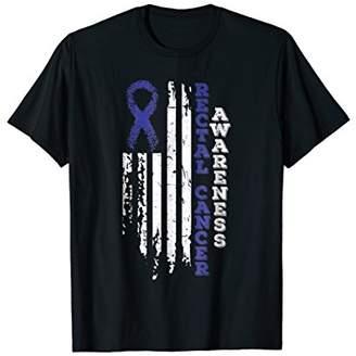 USA Flag Rectal Cancer Awareness