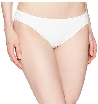 MICHAEL Michael Kors Solids Side Shirred Bikini Bottom Women's Swimwear