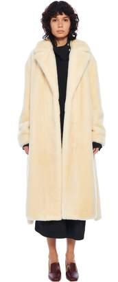 Tibi Luxe Faux Fur Oversized Coat